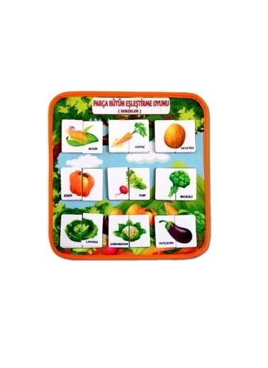 Toxtoys ( Sebzeler ) Parça-Bütün Eşleşmeler Keçe Cırtlı Aktivite Sayfası - Çocuk Etkinlik , Eğitici Renkli